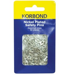 Korbond Silver Safety Pins