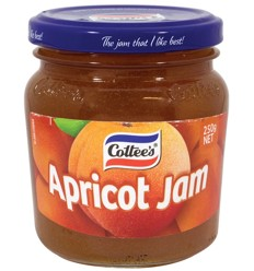 Cottees Jam Apricot 250g
