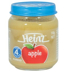 Heinz Jar Baby Apple 110g