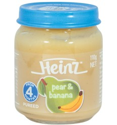 Jar Baby Pear and Banana 110g