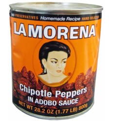 La Morena Chipotle Peppers in Adobo Sauce 800g