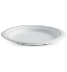 Biopak Biocane Round Paper Plate 7 Inch 125s x 8