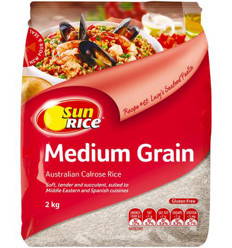 Sunrice Medium Grain White Rice 2kg