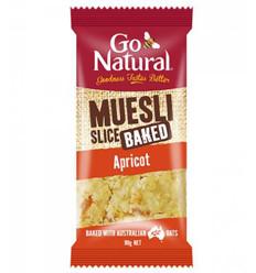 Go Nat Baked Muesli Apricot Slice 90g x 12