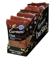 Carmans Chocolate Brownie Oat Slice 70g x 12