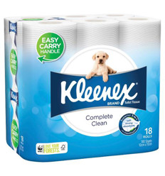 Kleenex White Regular Toilet Roll 18pk