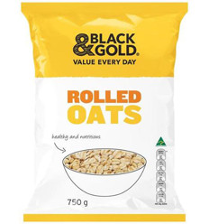 Black & Gold Rolled Oats 750gm