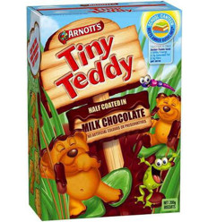 Arnotts Biscuits Chocolate Tiny Teddy Half Coat 200gm