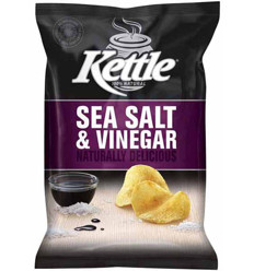 Kettle Chips Sea Salt and Vinegar 90g x 12