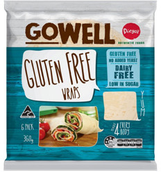 Gowell Gluten Free Wrap 6 Pack X 12