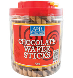 Alli & Rose Chocolate Wafer Sticks 700g x 8