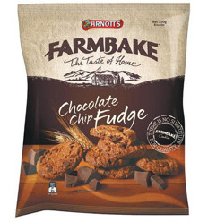 Arnotts Farm bake Chocolate Chip Fudge 350g