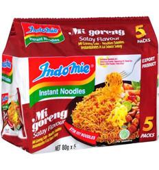 Indomie Mi Goreng Instant Noodles Satay 5 Pack 400gm