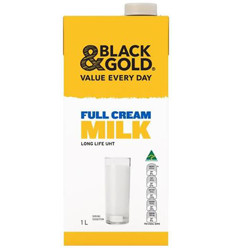 Black & Gold Milk Full Cream Long Life Uht 1l