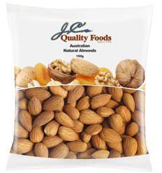 Jc's Natural Almonds 150g x 12