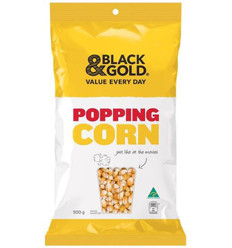 Black & Gold Popping Corn 500gm x 12