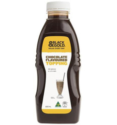Black & Gold Chocolate Toppings 600ml