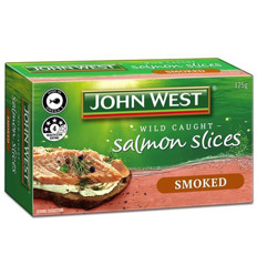 John West Smoked Salmon Slices 125gm