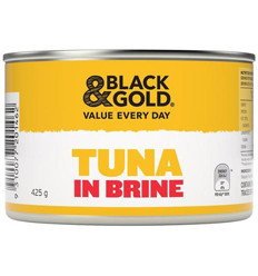 Black & Gold Tuna Chunks In Brine 425gm