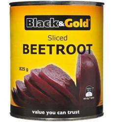 Black & Gold Sliced Beetroot 825gm x 12