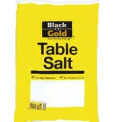 Black & Gold Table Salt Bag 500gm