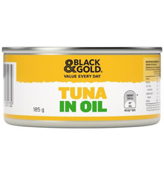 Black & Gold Tuna Chunks In Oil 185g