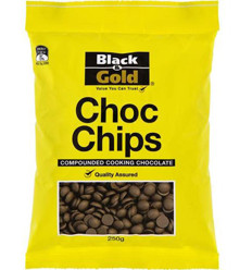 Black & Gold Chocolate Chips Compounded Cooking Chocolate 250g