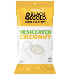 Black & Gold Desiccated Coconut 500gm