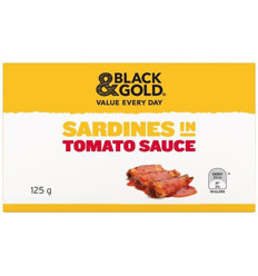 Black & Gold Sardines In Tomato Sauce 125gm x 24