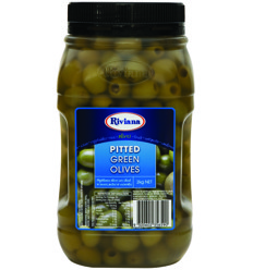 Riviana Pitted Green Olives 2kg