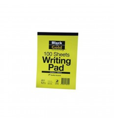 Black & Gold Writing Pad A5 21mm X 15mm 1 Sheets 1ea x 10