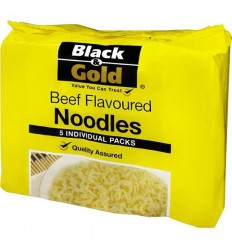 Black & Gold Noodles Beef Flavoured 5 Pack 85gm x 6