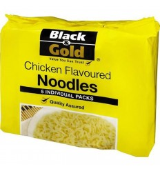 Black & Gold Noodles Chicken Flavoured 5 Pack 85gm x 6