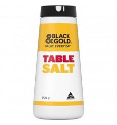 Black & Gold Plain Drum Table Salt 500gm