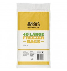 Black & Gold Freezer Bags Large 40s x 24