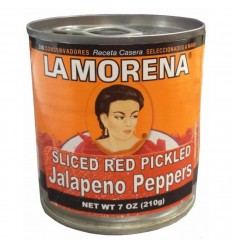 La Morena Sliced Red Jalapenos 210g