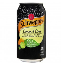 Schweppes Lemon And Lime Mineral Water 375ml x 24