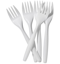 Plastic Party Forks x 100